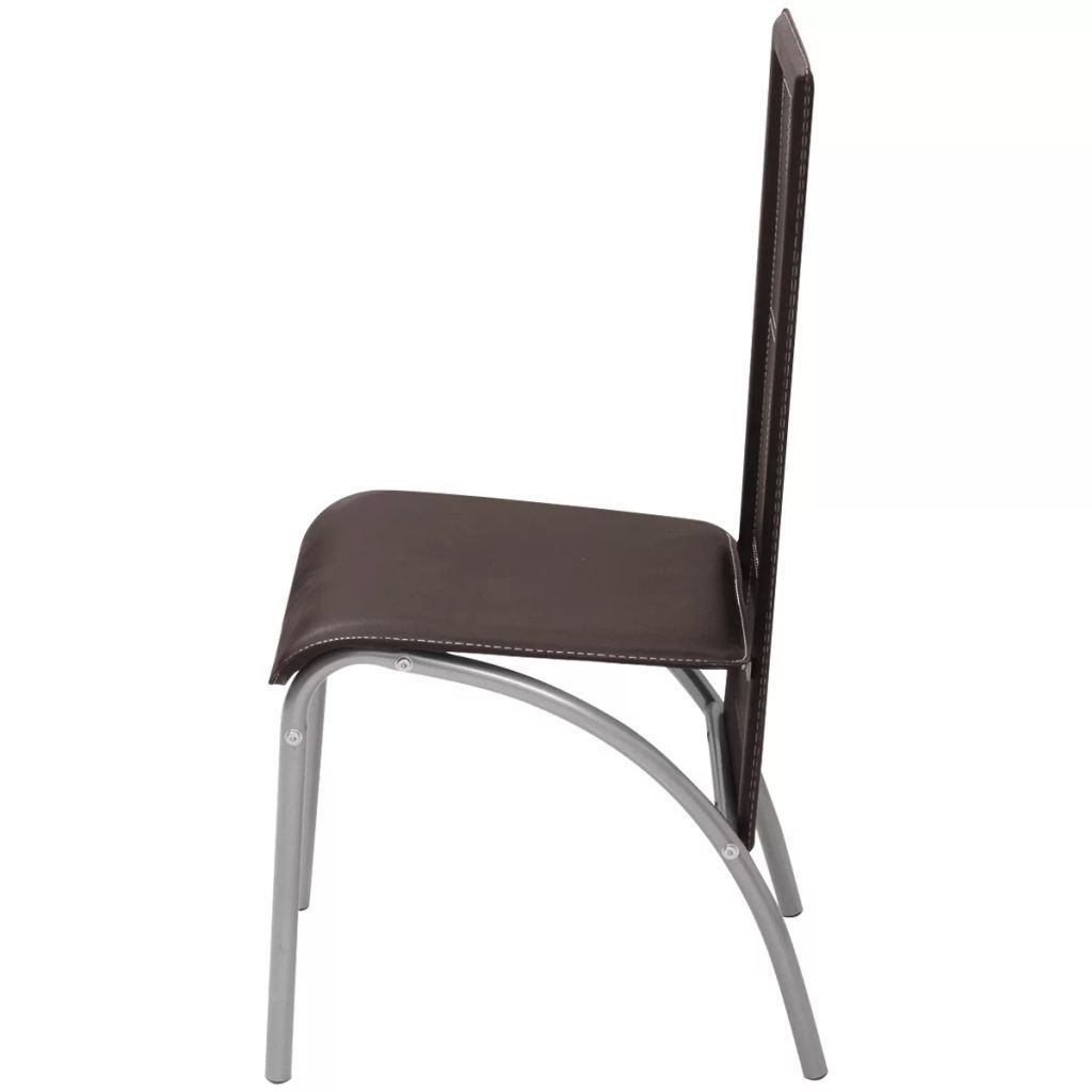 Picture of Dining Chairs 6 pcs Artificial Leather Brown
