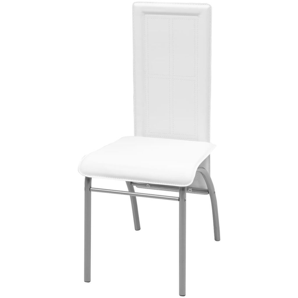 Picture of Dining Chairs 6 pcs Artificial Leather White