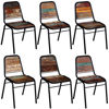 "Picture of Dining Chairs 6 pcs Solid Reclaimed Wood 17.3""x23.2""x35"""