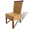 Picture of Dining Chairs Brown Rattan - 2 pcs