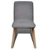 Picture of Dining Chairs Fabric Oak - 6 pcs Dark Gray