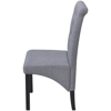 Picture of Dining Chairs Fabric Upholstery - 2 pcs Dark Gray