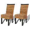 Picture of Dining Chairs Handmade - 2 pcs Abaca Brown