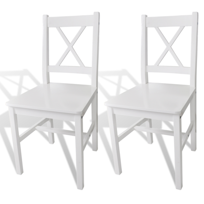Picture of Dining Chairs Pinewood - 2 pcs White
