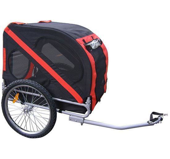 Picture of Dog Stroller Bike Trailer - Red with Black