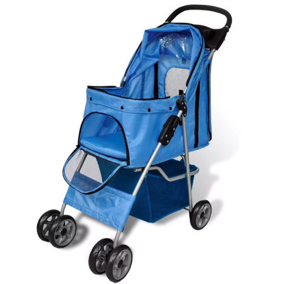 Picture of Dog Stroller 33 lb Blue