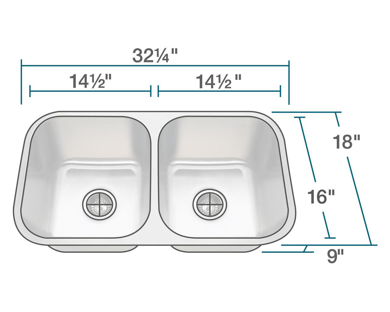 Picture of Double Bowl Undermount Stainless Steel Sink