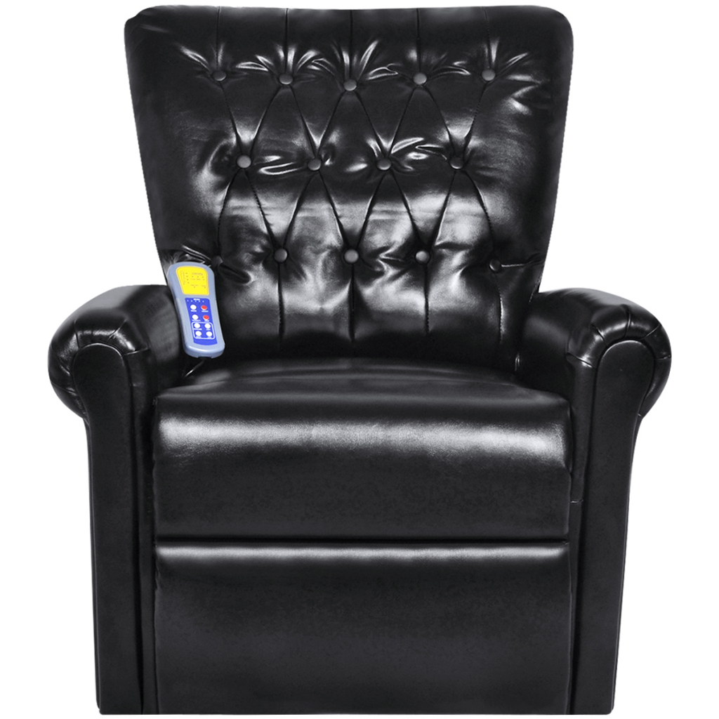 Picture of Electric Recliner Massage Chair Artificial Leather - Black