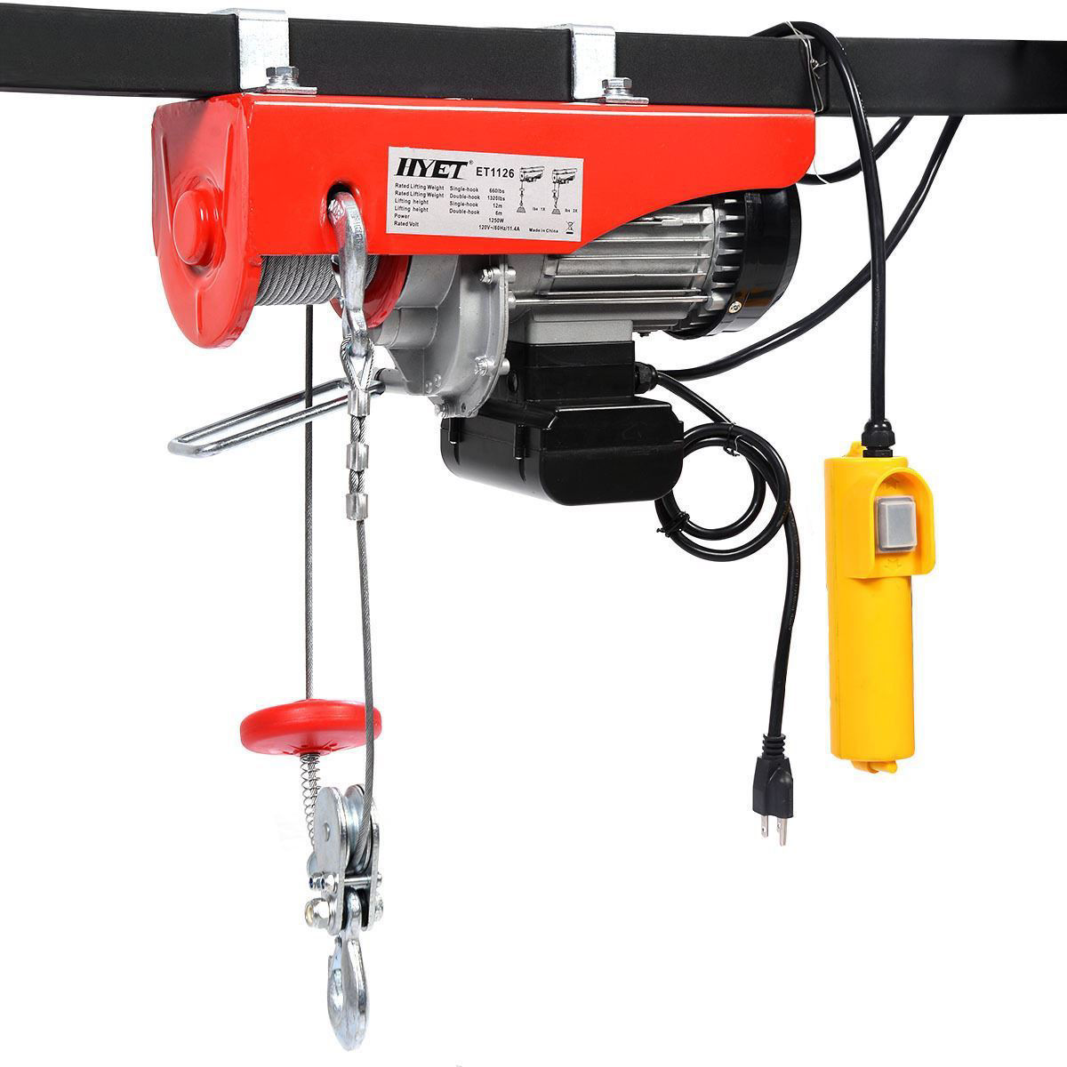 Picture of Electric Wire Cable Hoist Winch Crane 1320 Lbs