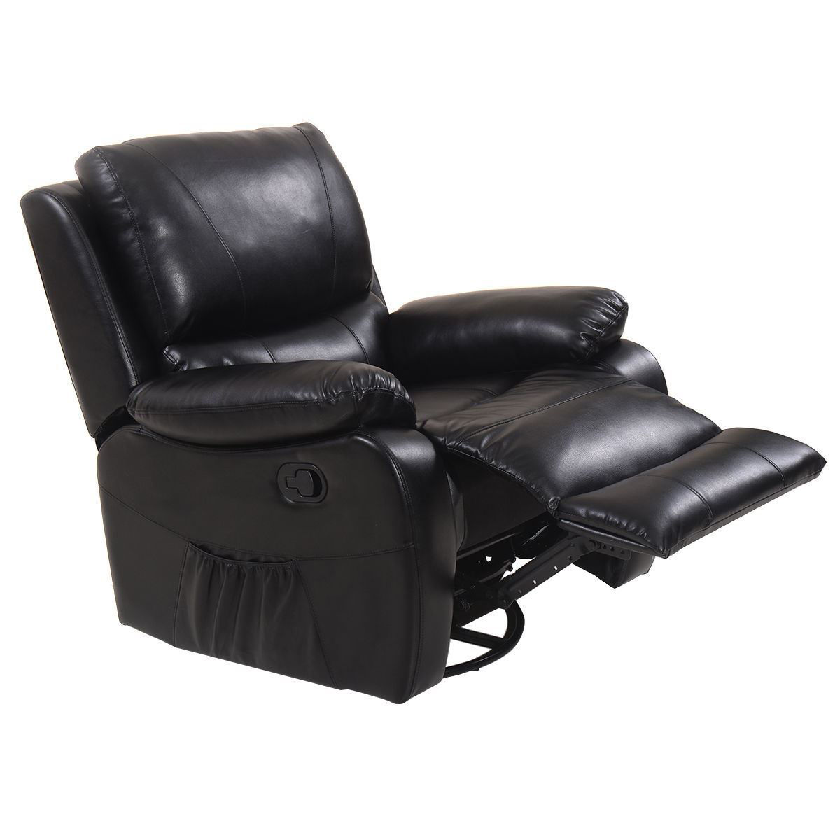 Picture of Ergonomic Executive Heated Deluxe Recliner Massage Chair Lounge with Control