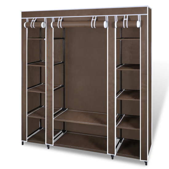 "Picture of Fabric Cabinet with Compartments 17"" - Brown"
