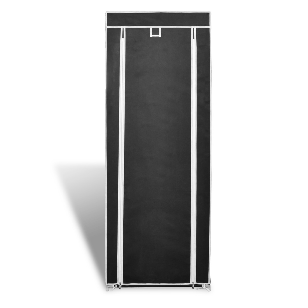 """Picture of Fabric Shoe Cabinet with Cover 22"""" - Black"""