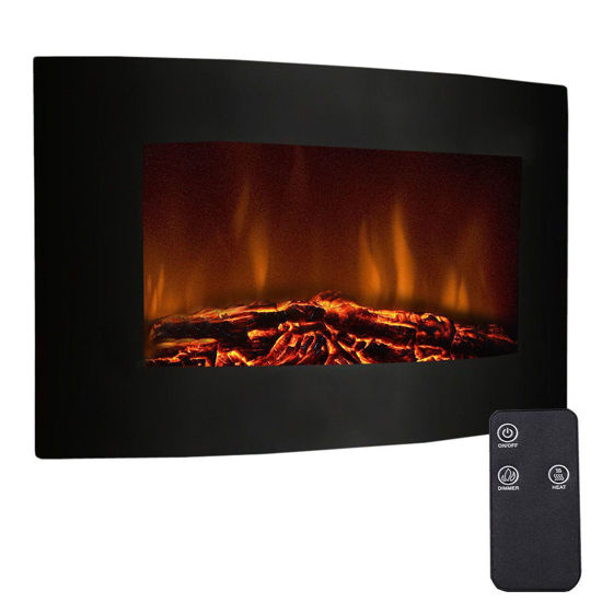 """Picture of Fireplace Heater with Remote 1500W - 35"""""""
