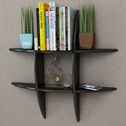 Picture of Floating Book Shelf Wall Display/DVD Storage - Black