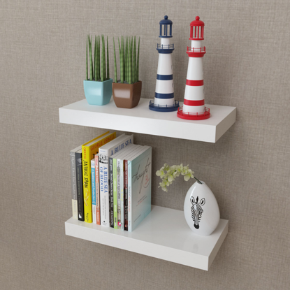 Picture of Floating Book Shelves - 2 pc White