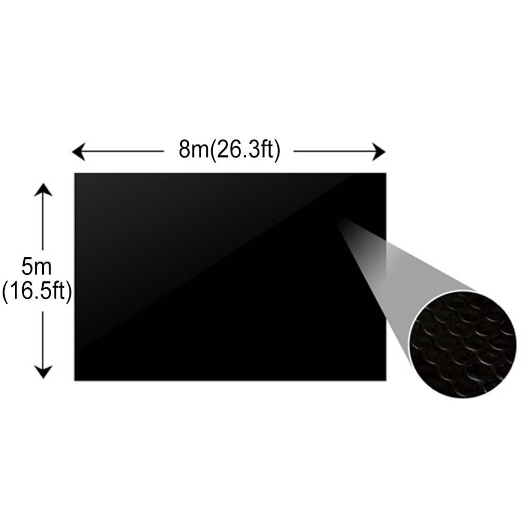 Picture of Floating Rectangular PE Solar Pool Film 26.3 x 16.5 ft - Black