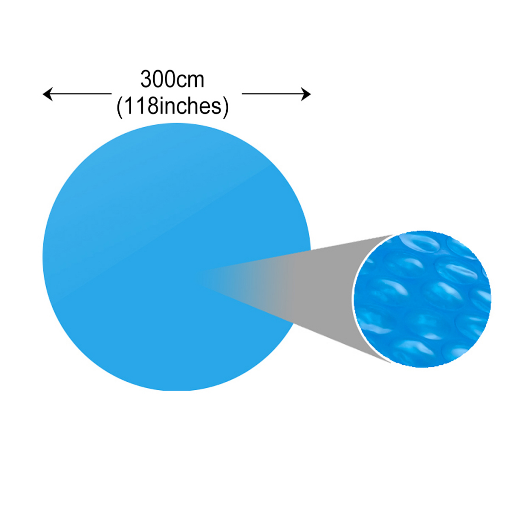Picture of Floating Round PE Solar Pool Film 118 in. for 144 in. Pool - Blue