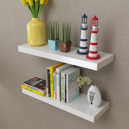 Picture of Floating Wall Shelves - White 2 pcs