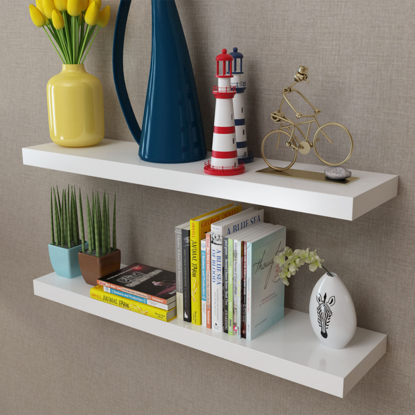 Picture of Floating Wall Shelves 2 pcs - White