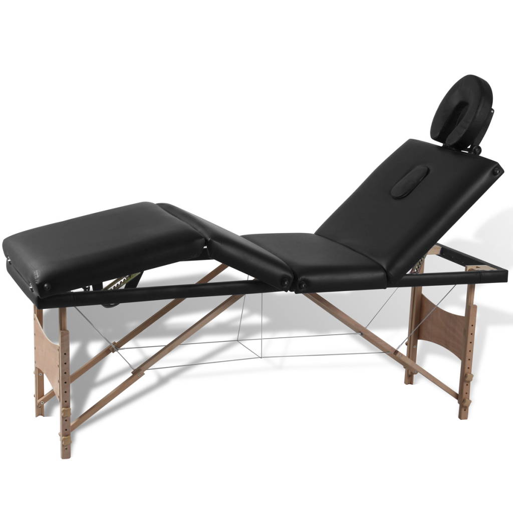 Picture of Foldable Massage Table 4 Zones - Black