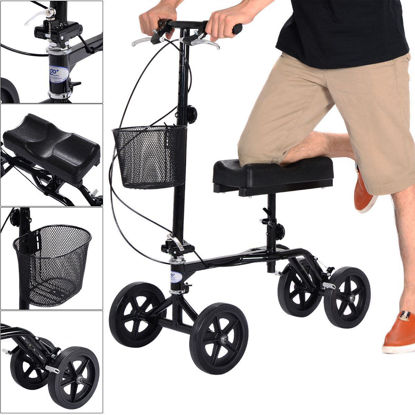 Picture of Foldable Steerable Knee Walker Scooter