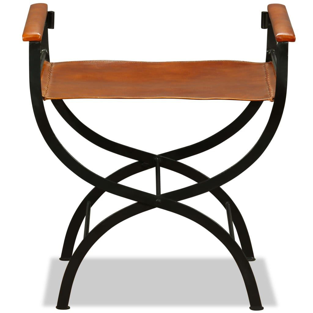 """Picture of Folding Chair Genuine Leather 23.2""""x18.9""""x30.3"""""""