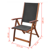 Picture of Folding Chairs Acacia Wood - 2 pcs Black