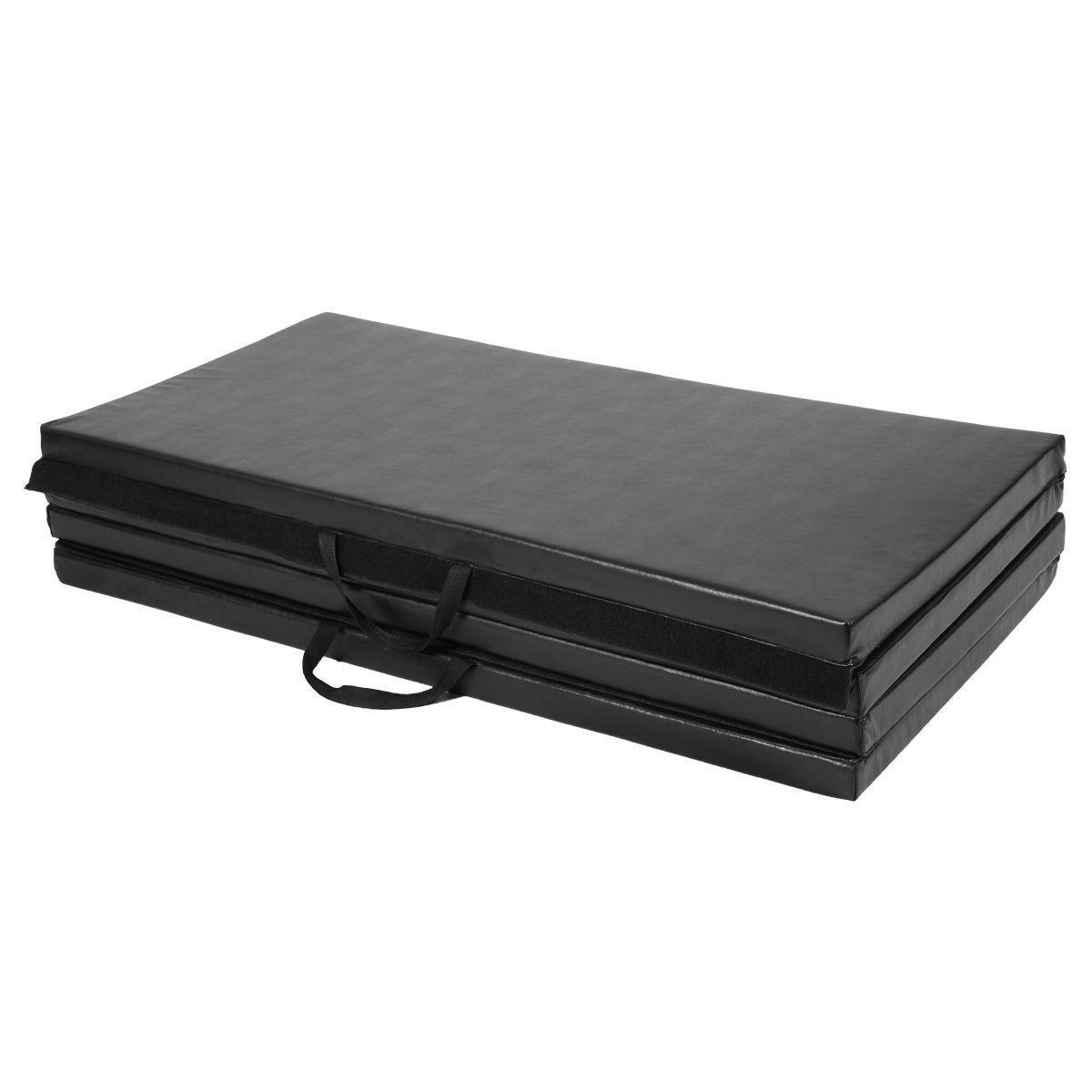 "Picture of Folding Gymnastics Mat Black - 4' x 8' x 2"""