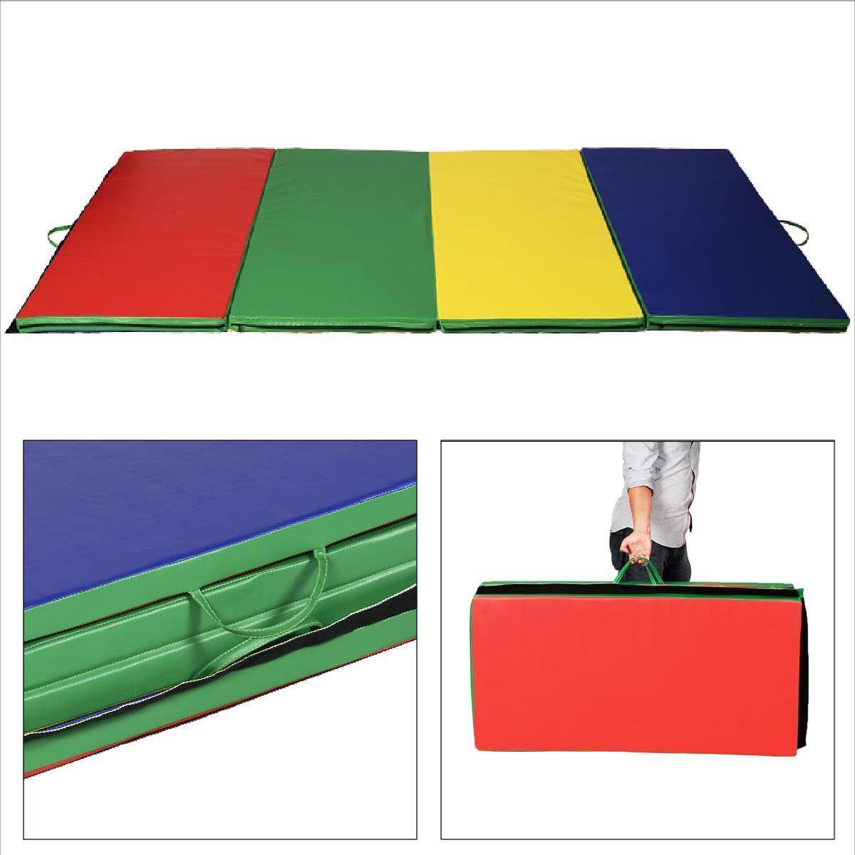 Picture of Folding Gymnastics Tumbling Mat Multi-color - 4' x 10' x 2""