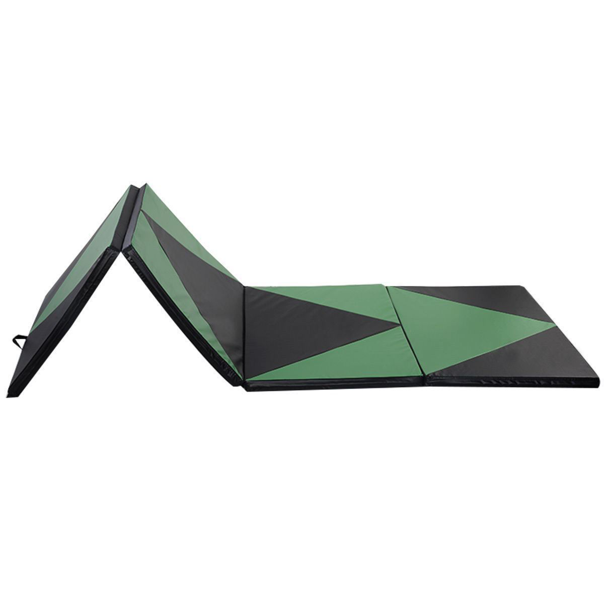 Picture of Folding Tumbling Gymnastics Mat Green / Black - 4' x 10' x 2""