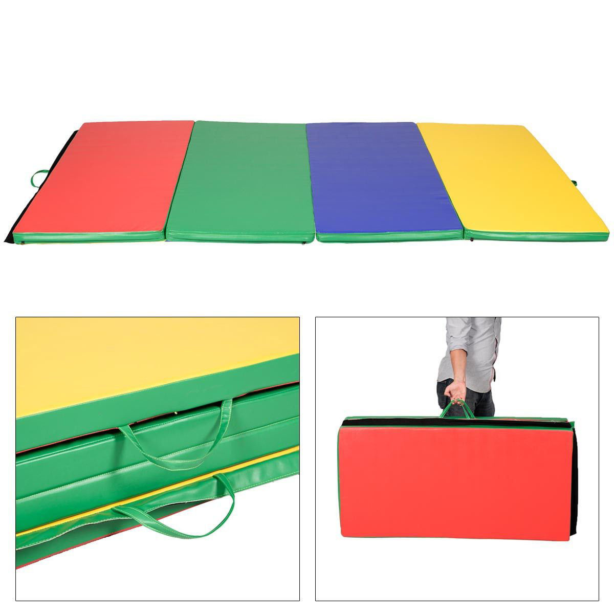 Picture of Folding Tumbling Gymnastics Mat Multicolor - 4' x 8' x 2""