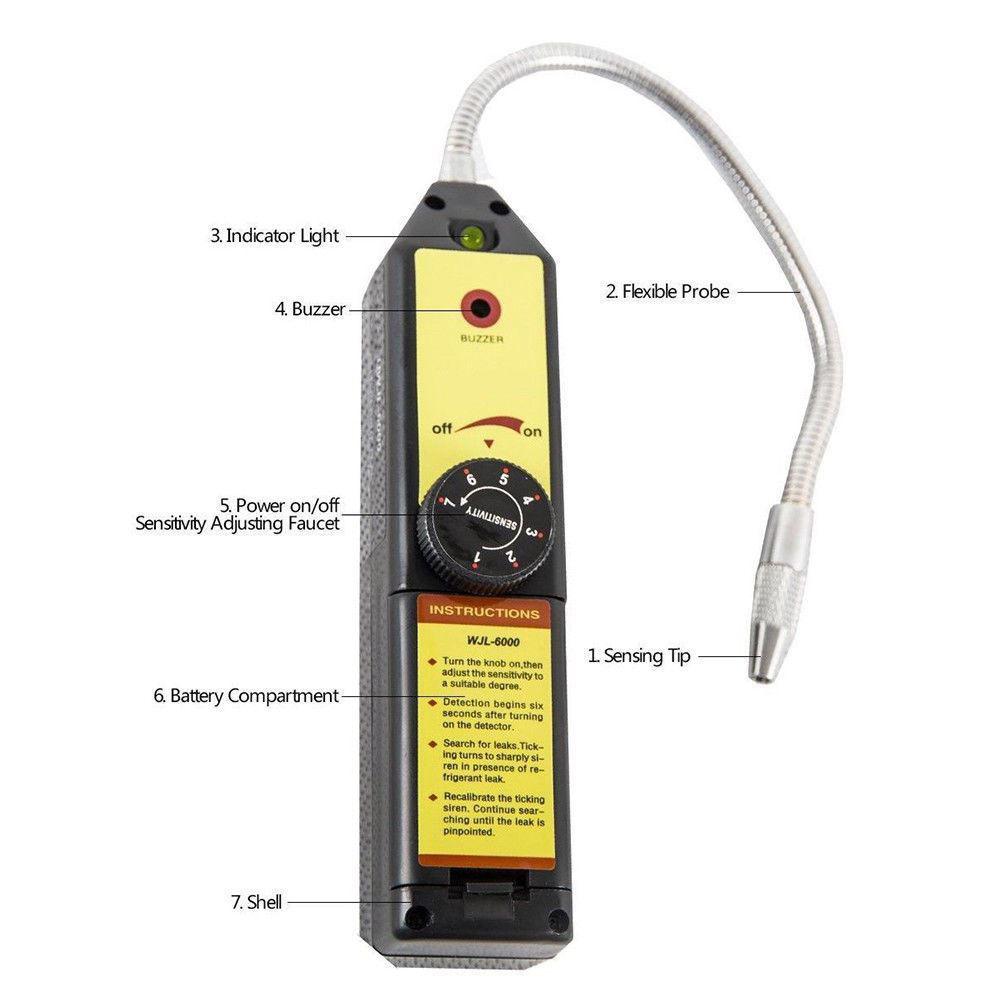 Picture of Freon Leak Detector Refrigerant Halogen R134a R410a R22a Bag Air Condition HVAC