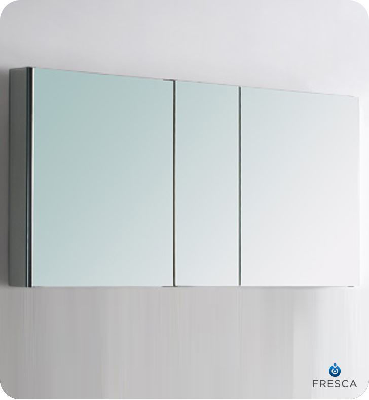 "Picture of Fresca 50"" Wide Bathroom Medicine Cabinet with Mirrors"