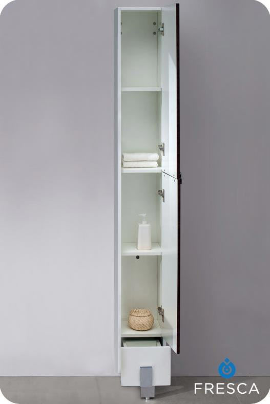Picture of Fresca Adour Dark Walnut Bathroom Linen Side Cabinet
