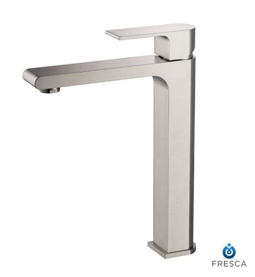 Picture of Fresca Allaro Single Hole Vessel Mount Bathroom Vanity Faucet - Brushed Nickel