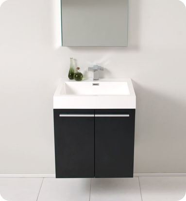 "Picture of Fresca Alto 23"" Black Modern Bathroom Vanity with Medicine Cabinet"