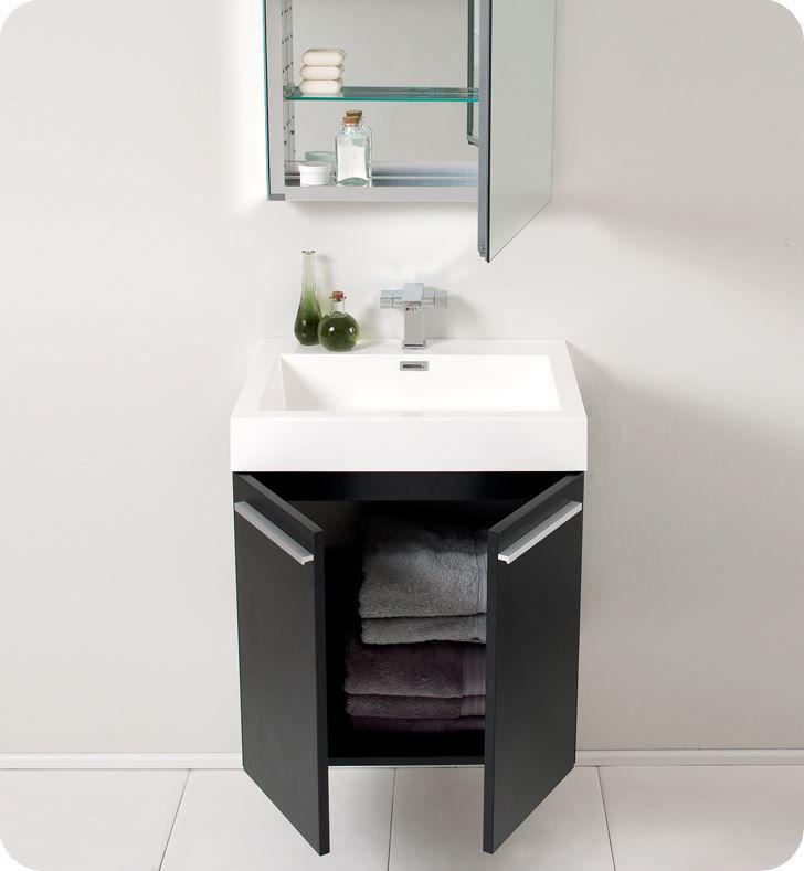 "Picture of Fresca Alto 23"" Black Modern Bathroom Vanity with Medicine Cabinet"