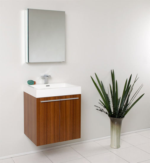 "Picture of Fresca Alto 23"" Teak Modern Bathroom Vanity w/ Medicine Cabinet"