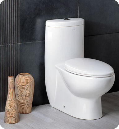 Picture of Fresca Delphinus One-Piece Dual Flush Toilet w/ Soft Close Seat