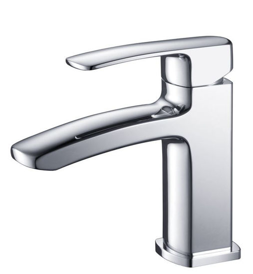 Picture of Fresca Fiora Single Hole Mount Bathroom Vanity Faucet - Chrome