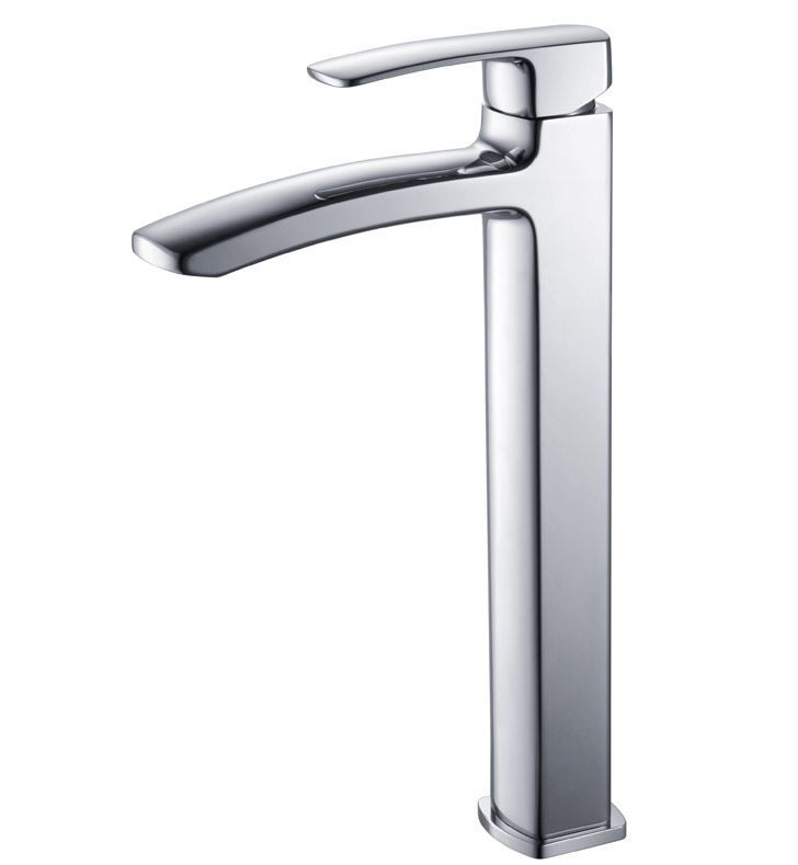 Picture of Fresca Fiora Single Hole Vessel Mount Bathroom Vanity Faucet - Chrome