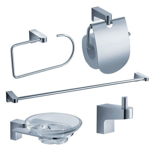 Picture of Fresca Generoso 5-Piece Bathroom Accessory Set - Chrome