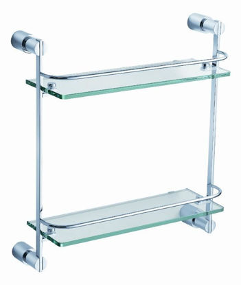 Picture of Fresca Magnifico 2 Tier Glass Shelf - Chrome