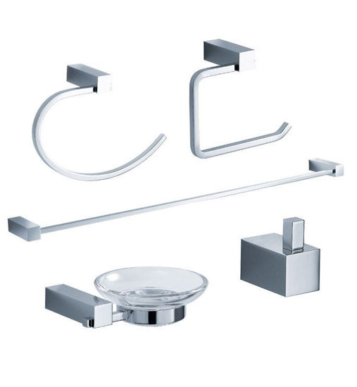 Picture of Fresca Ottimo 5-Piece Bathroom Accessory Set - Chrome