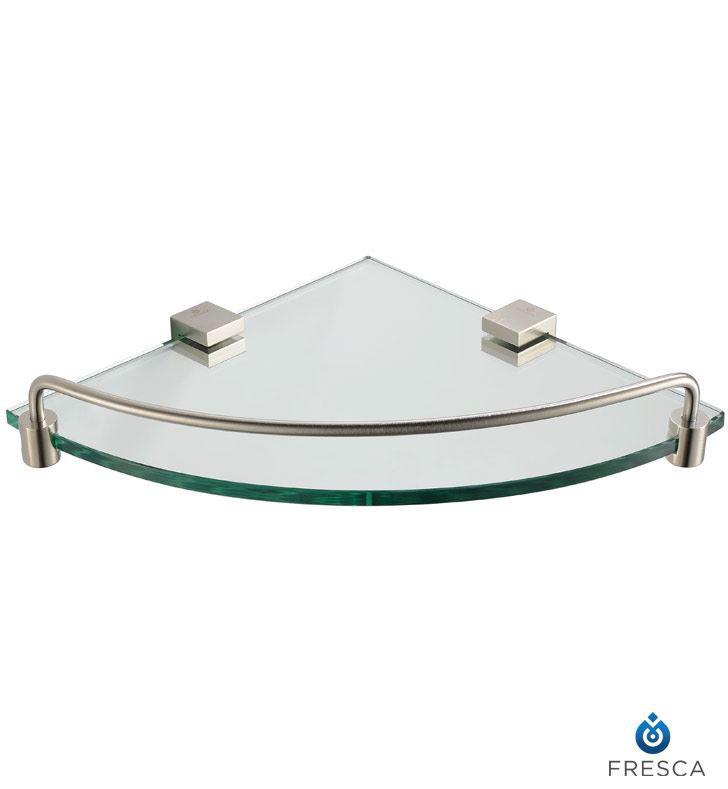 Picture of Fresca Ottimo Corner Glass Shelf - Brushed Nickel