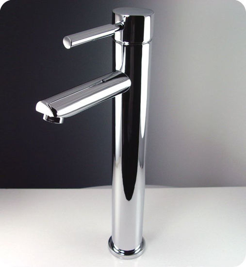 Picture of Fresca Tolerus Single Hole Vessel Mount Bathroom Vanity Faucet - Chrome