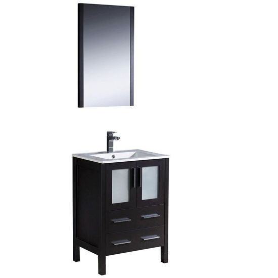 """Picture of Fresca Torino 24"""" Espresso Modern Bathroom Vanity with Integrated Sink"""