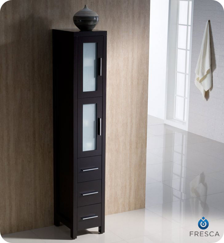 Picture of Fresca Torino Espresso Tall Bathroom Linen Side Cabinet