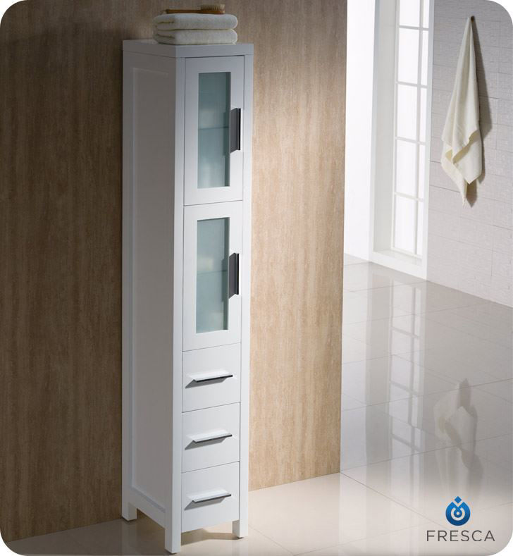 Picture of Fresca Torino White Tall Bathroom Linen Side Cabinet