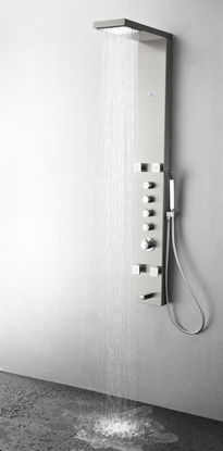 Picture of Fresca Verona Stainless Steel (Brushed Silver) Thermostatic Shower Massage Panel